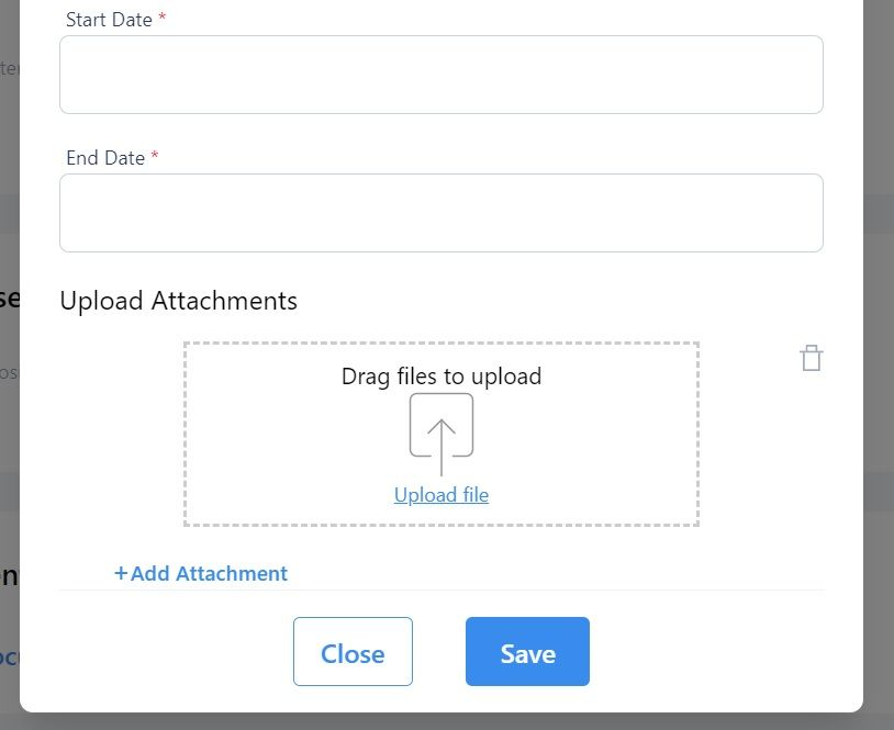 screenshot showing where to click to upload or drag a file