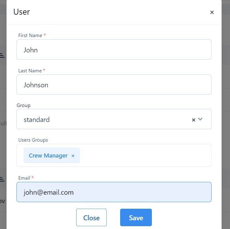 screenshot of the pop-up box showing an invite to a user