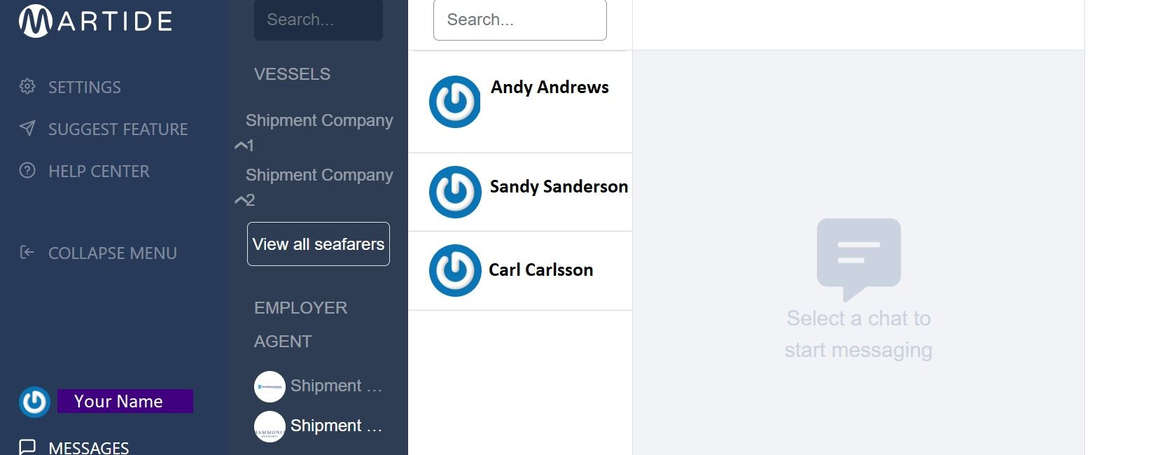 screenshot showing what happens when you click on an employer agent