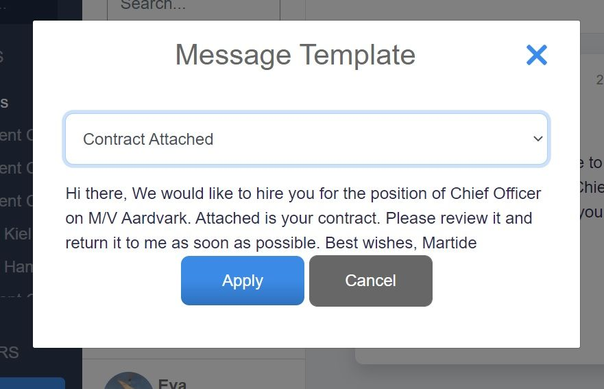 screenshot of Martide's website showing the view once you've selected a template