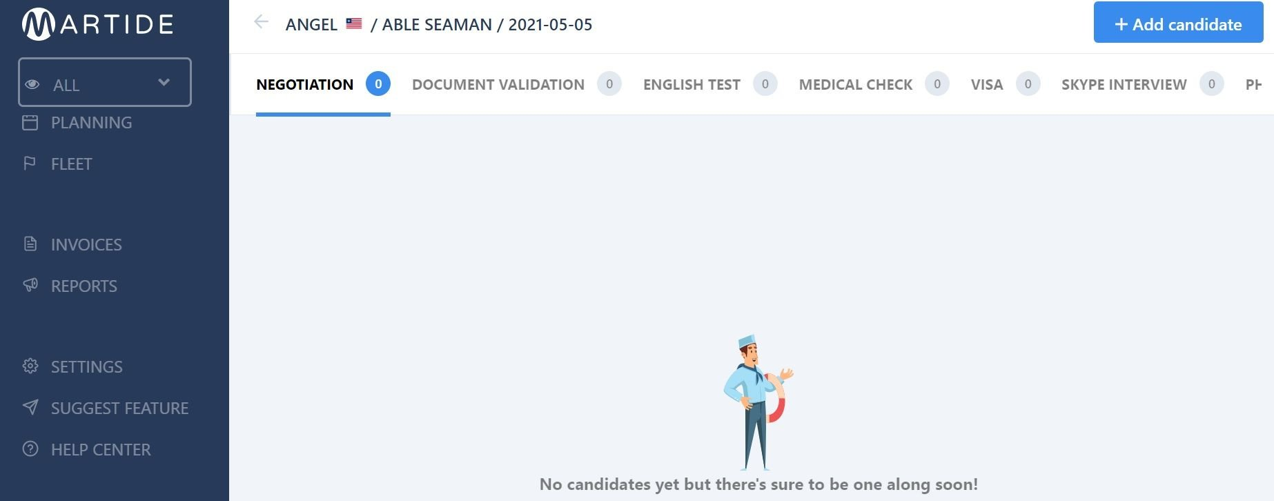 screenshot showing the new assignment page