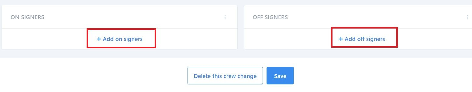 screenshot showing where to find on and off signers